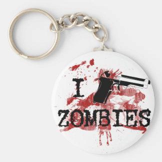 I Kill Zombies Basic Round Button Keychain