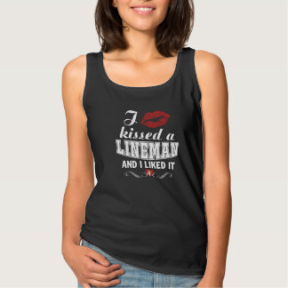 I kissed a LINEMAN Tank Top
