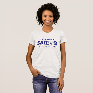 """I Kissed A Sailor & I Liked It!"" Anchor in Heart T-Shirt"