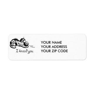 I knead you return address label