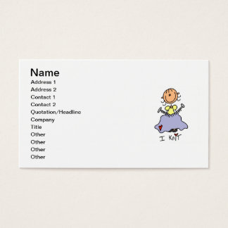 I Knit Business Card