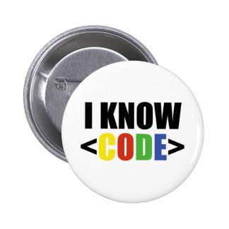 I Know CODE 2 Inch Round Button