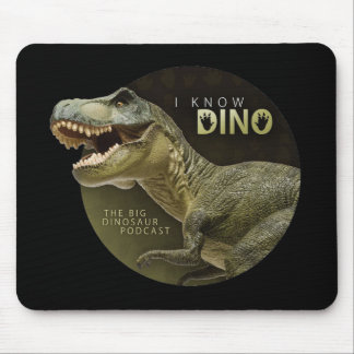 I Know Dino logo Mouse Pad