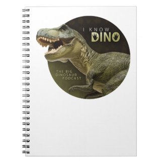 I Know Dino logo Notebook