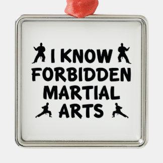I Know Forbidden Martial Arts Silver-Colored Square Ornament