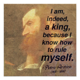 '...I know how to rule myself' Self-discipline Poster