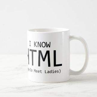 I Know HTML (How To Meet Ladies) Classic White Coffee Mug
