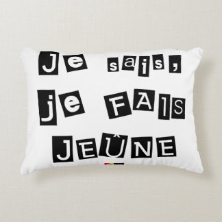 I know, I FAIS FAST - Word games Accent Pillow