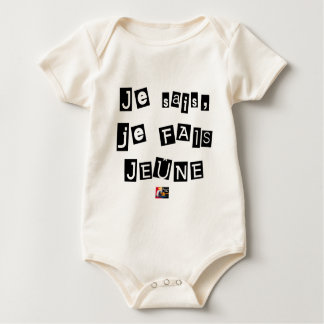 I know, I FAIS FAST - Word games Baby Bodysuit
