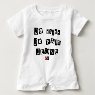 I know, I FAIS FAST - Word games Baby Romper