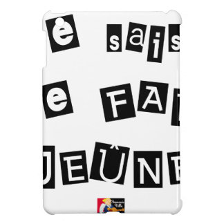 I know, I FAIS FAST - Word games Case For The iPad Mini