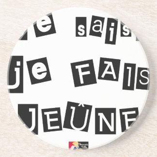 I know, I FAIS FAST - Word games Coaster