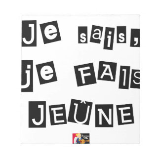 I know, I FAIS FAST - Word games Notepad