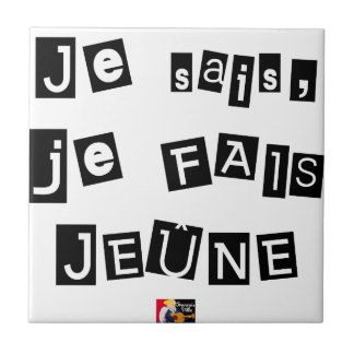I know, I FAIS FAST - Word games Tile