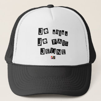 I know, I FAIS FAST - Word games Trucker Hat