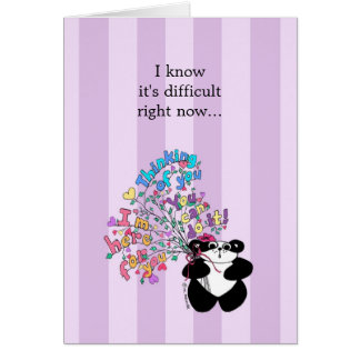 I know it's difficult right now - Encouragement Card