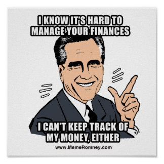 I KNOW IT'S HARD TO MANAGE YOUR FINANCES POSTER