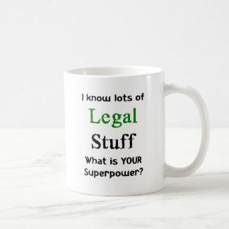 i know lots of legal stuff coffee mug