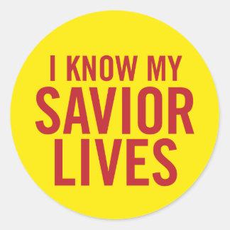 I know my Savior lives. stickers