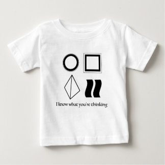 i know what you're thinking baby T-Shirt