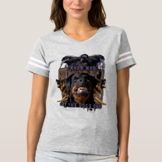 I know who let the dogs out! t-shirt