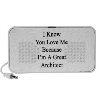 I Know You Love Me Because I'm A Great Architect Speakers