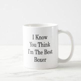 I Know You Think I'm The Best Boxer Basic White Mug
