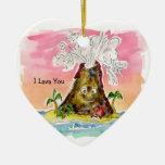 I Lava You Ceramic Heart Ornament