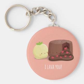 I Lava You Chocolate Molten Cake Ice cream Keychain