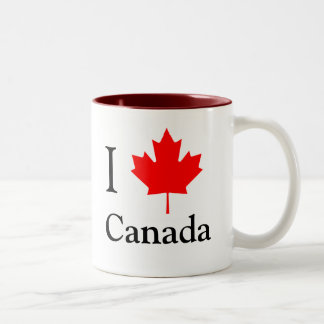I Leaf Canada Two-Tone Coffee Mug