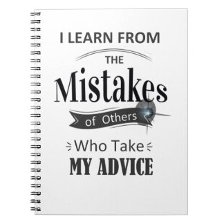 i learn from the mistakes of others funny Notebook