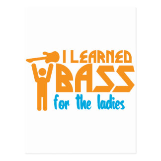 I learned bass for the ladies postcard