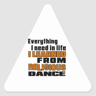 I Learned From Religious Triangle Sticker