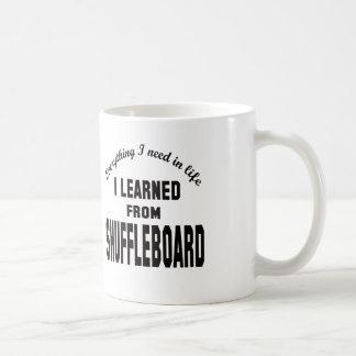 I Learned From Shuffleboard. Coffee Mug