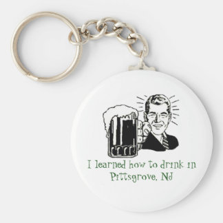 I learned how to drink in Pittsgrove, NJ Basic Round Button Keychain