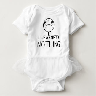 I learned nothing baby bodysuit