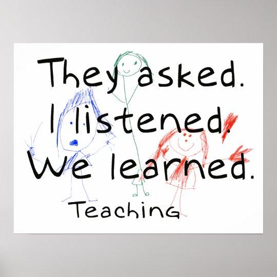 I learned Teaching Poster