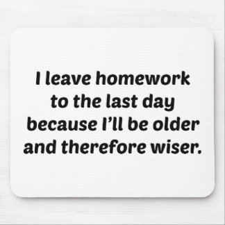I Leave Homework To The Last Day Mouse Pad