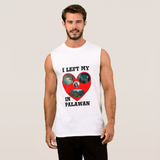 "I left my heart in Palawan ""3d Heart"" Sleeveless Shirt"