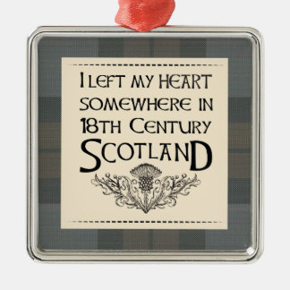 I Left My Heart in Scotland Metal Ornament