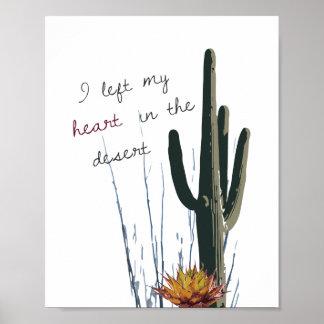 I Left My Heart in the Desert Poster