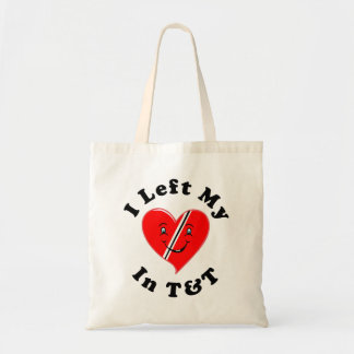 I Left My Heart In Trinidad and Tobago Budget Tote Bag