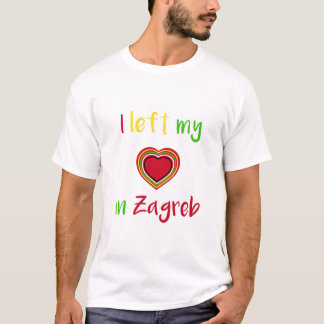 I left my heart in Zagreb Croatian mens T-shirt