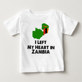 I Left My Heart in Zambia Baby T-Shirt