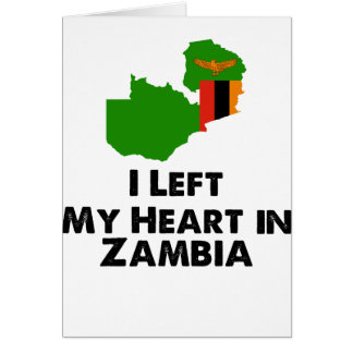 I Left My Heart in Zambia Card
