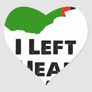 I Left My Heart in Zambia Heart Sticker