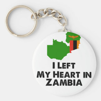 I Left My Heart in Zambia Keychain