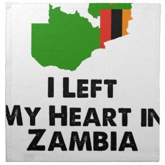 I Left My Heart in Zambia Napkin