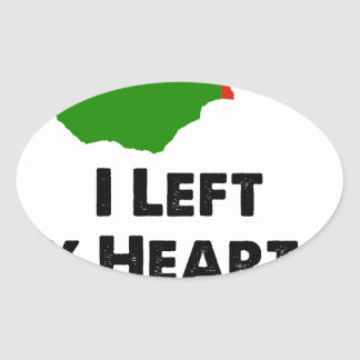 I Left My Heart in Zambia Oval Sticker