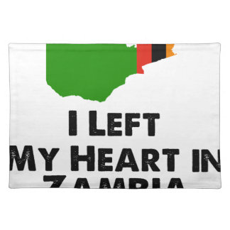 I Left My Heart in Zambia Placemat